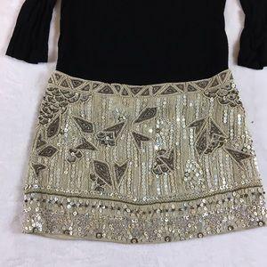 """13"""" Long Allsaints Sequin Beaded Skirt UK-8 US-4"""